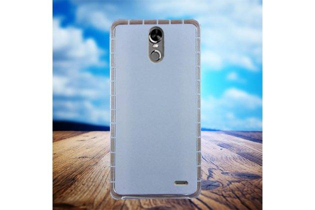 Фирменная уникальная задняя панель-крышка-накладка из тончайшего силикона для Ulefone Tiger белая