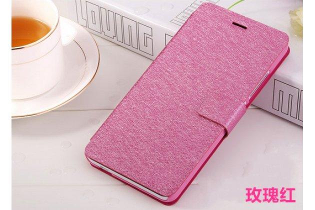 Фирменный оригинальный чехол-книжка для Ulefone Be X розовый водоотталкивающий