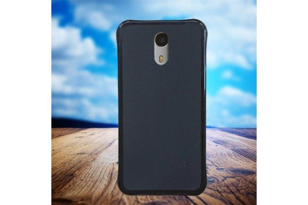 Фирменная ультра-тонкая полимерная из мягкого качественного силикона задняя панель-чехол-накладка для UMI Plus E 5.5 черная