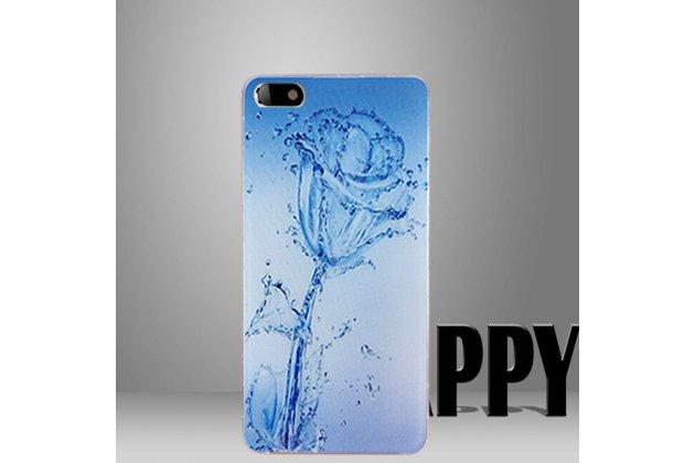 Фирменная роскошная задняя панель-чехол-накладка из мягкого силикона с объемным  3D изображением  на Umidigi C Note c с безумно красивым рисунком  Водная роза