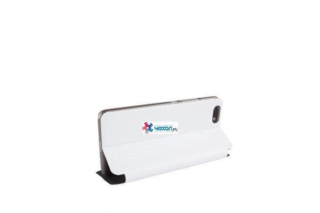 Фирменный премиальный элитный чехол-книжка из качественной импортной кожи с мульти-подставкой для Umidigi C Note белый