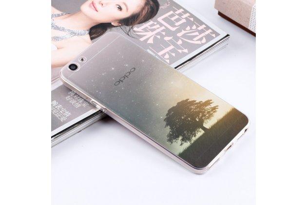 Фирменная ультра-тонкая полимерная из мягкого качественного силикона задняя панель-чехол-накладка для Vivo X9 Plus / Vivo X9 Plus 128Gb / Vivo X9 Plus 64Gb полупрозрачная дерево