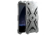 Противоударный металлический чехол-бампер из цельного куска металла с усиленной защитой углов и необычным экстремальным дизайном  для  Vivo X9 Plus / Vivo X9 Plus 128Gb / Vivo X9 Plus 64Gb серебряного цвета