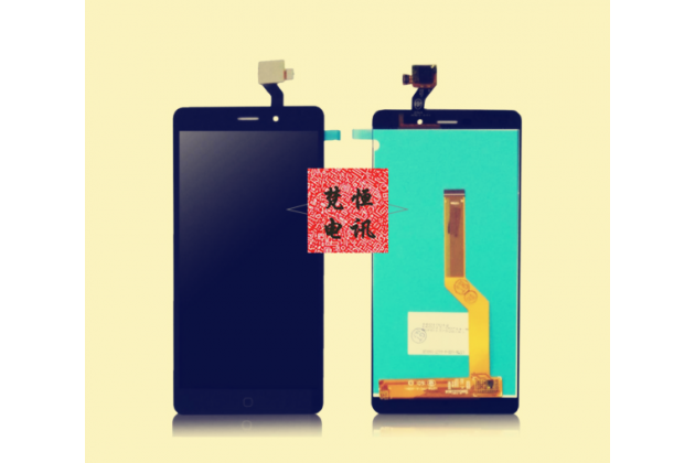 Фирменный LCD-ЖК-сенсорный дисплей-экран-стекло с тачскрином на телефон Wileyfox Spark / Wileyfox Spark+ / Spark Plus черный + гарантия