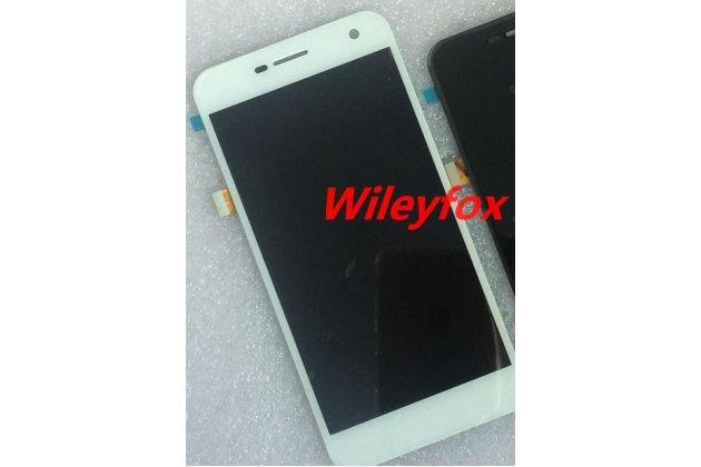 Фирменный LCD-ЖК-сенсорный дисплей-экран-стекло в сборе с тачскрином на телефон Wileyfox Spark (Вилейфокс Спарк) белый + гарантия