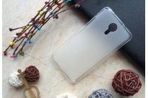 Фирменная ультра-тонкая полимерная из мягкого качественного силикона задняя панель-чехол-накладка для Wileyfox Storm белая