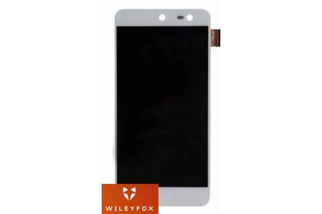 Фирменный LCD-ЖК-сенсорный дисплей-экран-стекло в сборе с тачскрином на телефон Wileyfox Swift 1 (Вилейфокс Свифт) белый + гарантия