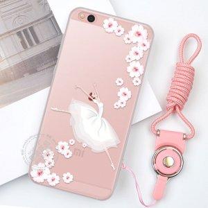 """Фирменная роскошная задняя панель-чехол-накладка  из мягкого силикона с безумно красивым расписным 3D рисунком на Xiaomi Mi 5C тематика """"Балерина"""""""