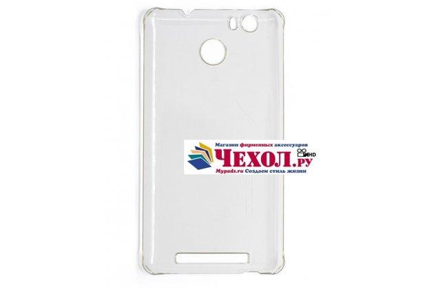 Фирменная задняя панель-крышка-накладка из тончайшего и прочного пластика для Leagoo Shark 1 белая
