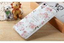 """Фирменная роскошная задняя панель-чехол-накладка из мягкого силикона с объемным  3D изображением  на Xiaomi Mi 6 с безумно красивым рисунком """"Розочки"""""""