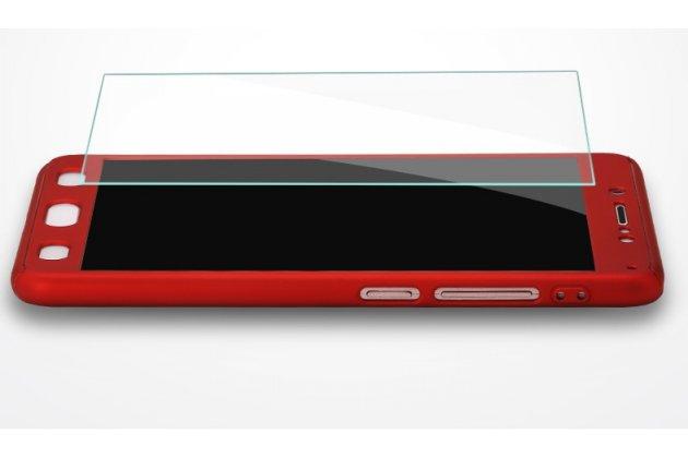 Фирменный чехол-бокс-корпус-панель в комплекте с задней и передней крышкой из тончайшего и прочного пластика для Xiaomi Mi 6 красный