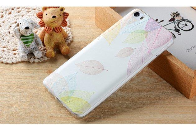 """Фирменная роскошная задняя панель-чехол-накладка из мягкого силикона с объемным  3D изображением  на Xiaomi Mi 6 с безумно красивым рисунком """"Листопад"""""""