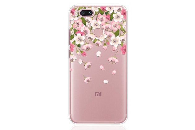 """Фирменная ультра-тонкая полимерная из мягкого качественного силикона задняя панель-чехол-накладка для Xiaomi Mi 6 с изображением """"Цветы"""""""