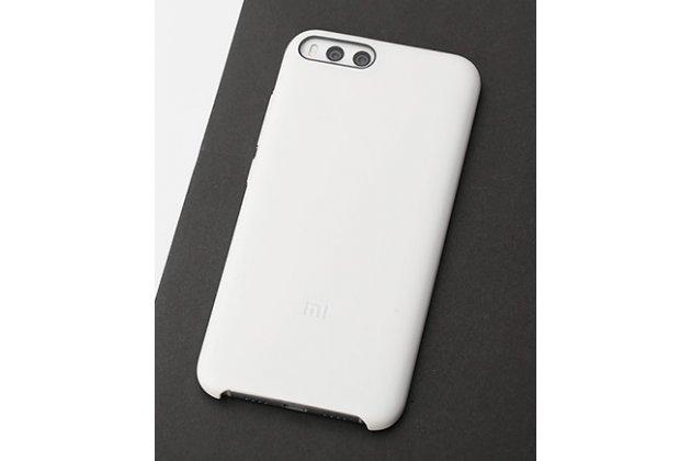 Фирменная ультра-тонкая полимерная из мягкого качественного силикона задняя панель-чехол-накладка для Xiaomi Mi 6 белая