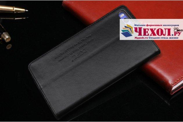 Фирменный чехол-книжка из качественной импортной кожи с мульти-подставкой и визитницей для Xiaomi Mi 6 черный