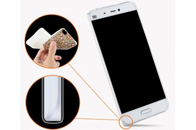 """Фирменная роскошная задняя панель-чехол-накладка из мягкого силикона с объемным  3D изображением  на Xiaomi Mi 6 с безумно красивым рисунком """"Котик"""""""