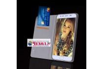 Фирменный чехол-книжка из качественной импортной кожи с мульти-подставкой и визитницей для Xiaomi Mi 6 темно-коричневый