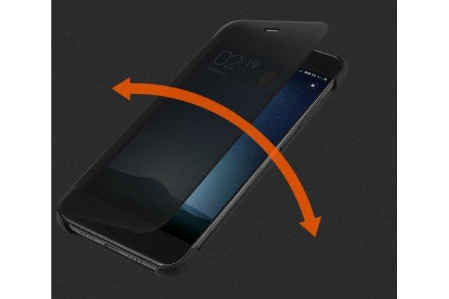 Официальный оригинальный чехол книжка Ice View Case Book Flip Cover для Xiaomi Mi 6 и активной крышкой черного цвета