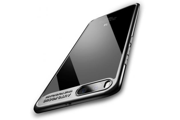 Фирменная задняя панель-накладка-бампер из тончайшего и прочного пластика с усиленной защитой углов для Xiaomi Mi 6 черный