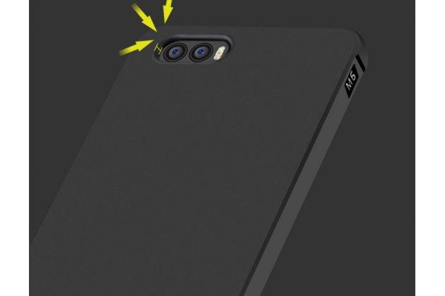 Фирменная ультра-тонкая полимерная из мягкого качественного силикона задняя панель-чехол-накладка для Xiaomi Mi 6 черная
