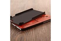 """Фирменная оригинальная деревянная из натурального бамбука задняя панель-крышка-накладка для Xiaomi Mi 6 с изображением """"Узоры"""""""
