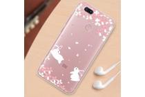 """Фирменная ультра-тонкая полимерная из мягкого качественного силикона задняя панель-чехол-накладка для Xiaomi Mi 6 с изображением """"Кролики"""""""