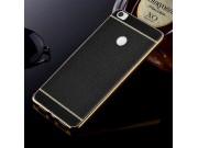 Фирменная премиальная элитная крышка-накладка на Xiaomi Mi Max 2 черная из качественного силикона с дизайном п..