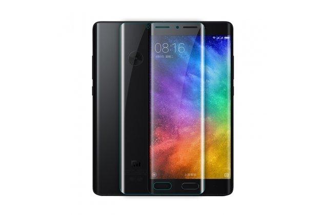 Фирменная оригинальная 3D защитная пленка с закругленными краями которое полностью закрывает экран для телефона Xiaomi Mi Note 2 глянцевая