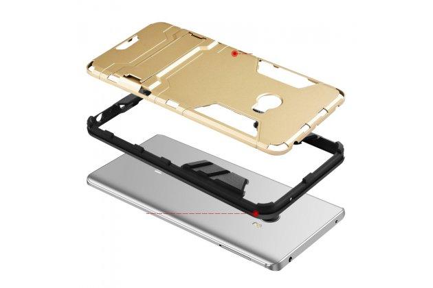 Противоударный усиленный ударопрочный фирменный чехол-бампер-пенал для Xiaomi Mi Note 2 черный