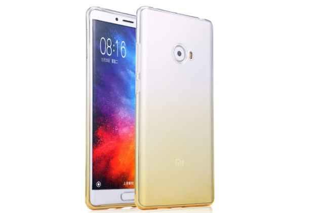 Фирменная ультра-тонкая полимерная задняя панель-чехол-накладка из силикона для Xiaomi Mi Note 2 прозрачная с эффектом песка