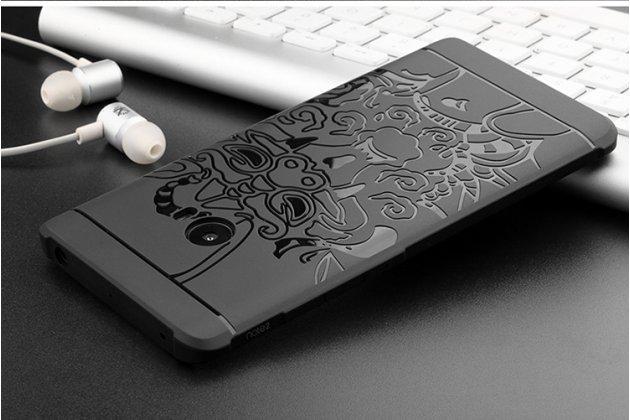 """Фирменная роскошная задняя панель-чехол-накладка  из мягкого силикона с безумно красивым расписным 3D рисунком на Xiaomi Mi Note 2 """"тематика Китайский дракон"""" черная"""