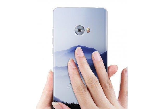 """Фирменная роскошная задняя панель-чехол-накладка  из мягкого силикона с безумно красивым расписным 3D рисунком на Xiaomi Mi Note 2 """"тематика Горы"""""""
