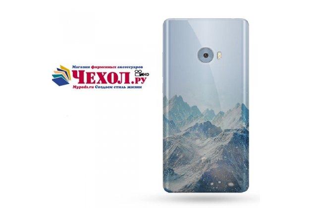 """Фирменная роскошная задняя панель-чехол-накладка  из мягкого силикона с безумно красивым расписным 3D рисунком на Xiaomi Mi Note 2 """"тематика Снежные горы"""""""