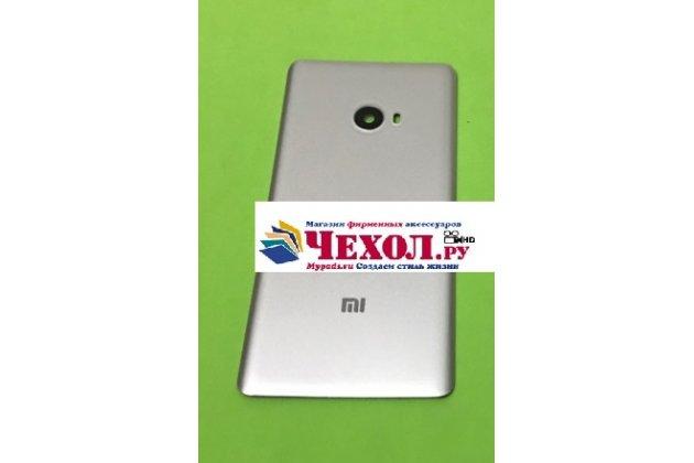 Родная оригинальная задняя крышка-панель которая шла в комплекте для Xiaomi Mi Note 2 серебристая