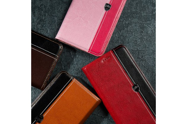 Фирменный премиальный чехол-книжка из качественной импортной кожи с мульти-подставкой и визитницей для Xiaomi Mi Note 2 красно-черный