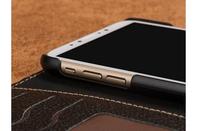 Фирменный премиальный элитный чехол-книжка из качественной импортной кожи с мульти-подставкой и визитницей для Xiaomi Mi Note 2  черный