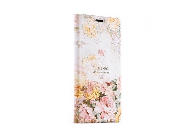 Фирменный уникальный необычный чехол-подставка для Xiaomi Mi Note 2  тематика Королевские розы