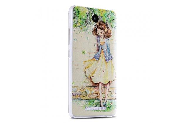 Фирменная уникальная задняя панель-крышка-накладка из тончайшего силикона для Xiaomi Mi Note 2 с объёмным 3D рисунком тематика Девочка