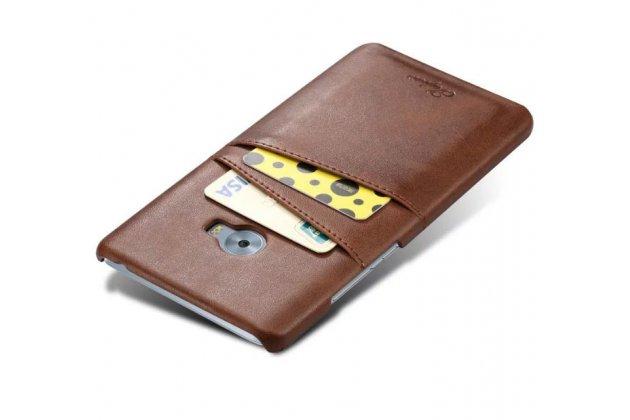 Фирменная роскошная элитная премиальная задняя панель-крышка для Xiaomi Mi Note 2 из качественной кожи буйвола с визитницей коричневый