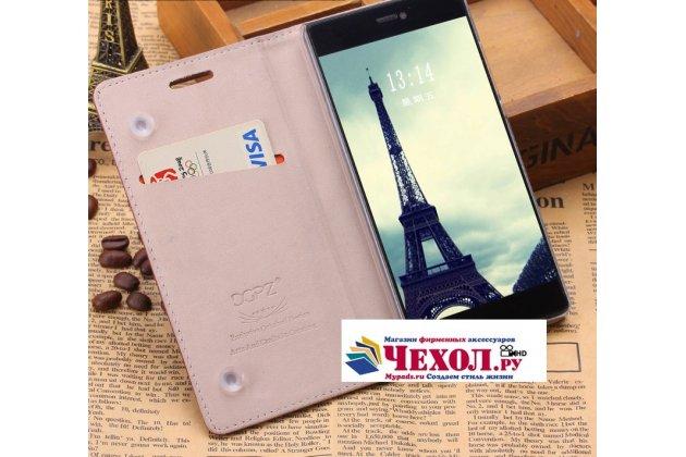 """Фирменный премиальный элитный чехол-книжка с логотипом из качественной импортной кожи с мульти-подставкой и визитницей для Xiaomi Mi 5S / Xiaomi Mi5s 5.15 """"Ретро"""" розовый"""