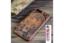 Фирменная оригинальная деревянная из натурального бамбука задняя панель-крышка-накладка для Xiaomi Mi 5S / Xiaomi Mi5s 5.15 с рисунком Дракон