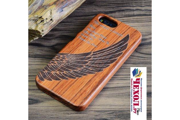 Фирменная оригинальная деревянная из натурального бамбука задняя панель-крышка-накладка для Xiaomi Mi 5S / Xiaomi Mi5s 5.15 с рисунком Ангел