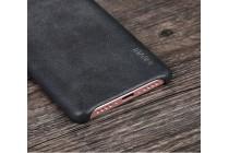 """Фирменная премиальная элитная крышка-накладка из тончайшего прочного пластика и качественной импортной кожи для Xiaomi Mi5s 5.15""""  Ретро под старину черная"""