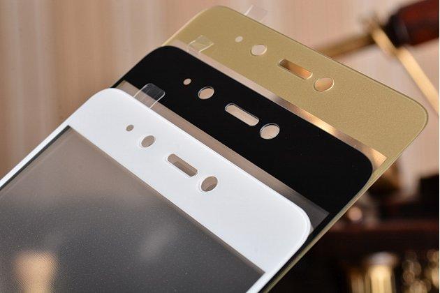 """Фирменное 3D защитное стекло с закругленными краями которое полностью закрывает экран / дисплей по краям с олеофобным покрытием для Xiaomi Mi5s 5.15"""""""