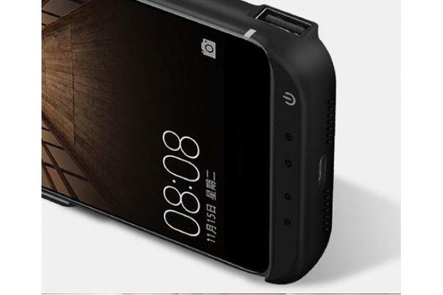 Чехол-бампер со встроенной усиленной мощной батарей-аккумулятором большой повышенной расширенной ёмкости 10000 mAh для Xiaomi Mi5s Plus 5.7 черный + гарантия