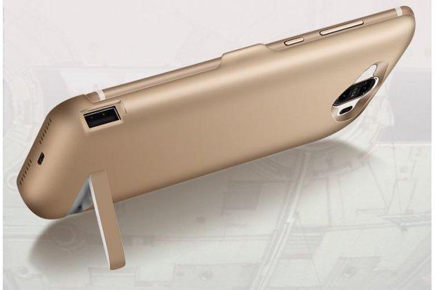 Чехол-бампер со встроенной усиленной мощной батарей-аккумулятором большой повышенной расширенной ёмкости 10000 mAh для Xiaomi Mi5s Plus 5.7 золотой + гарантия