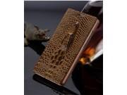Фирменный роскошный эксклюзивный чехол с объёмным 3D изображением кожи крокодила коричневый для Xiaomi Mi5s Pl..