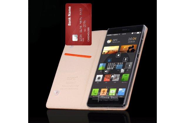 Фирменный чехол-книжка из качественной импортной кожи с мульти-подставкой и визитницей для Xiaomi Mi5s Plus 5.7 с логотипом черный