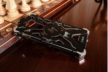 """Противоударный металлический чехол-бампер из цельного куска металла с усиленной защитой углов и необычным экстремальным дизайном  для Xiaomi Mi5s Plus"""" черного цвета"""