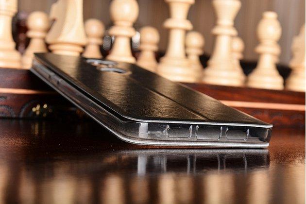 """Фирменный чехол-книжка водоотталкивающий с мульти-подставкой на жёсткой металлической основе для Xiaomi Mi5s Plus"""" черный"""